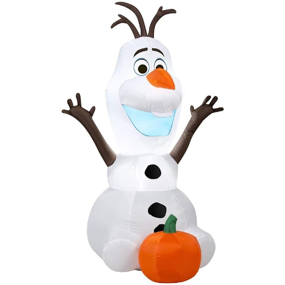 <p>Put this <span>Gemmy Airblown Inflatable Disney's Olaf</span> ($45) in your front yard.</p>