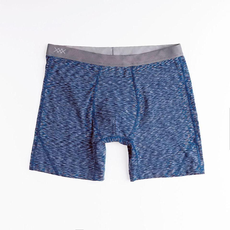 """<p><strong>Men's 5"""" Athletic Boxer Briefs</strong></p><p>rhone.com</p><p><strong>$28.00</strong></p><p><a href=""""https://go.redirectingat.com?id=74968X1596630&url=https%3A%2F%2Fwww.rhone.com%2Fproducts%2Fspace-dye-boxer&sref=https%3A%2F%2Fwww.menshealth.com%2Fstyle%2Fg19546347%2Fthe-best-mens-underwear%2F"""" rel=""""nofollow noopener"""" target=""""_blank"""" data-ylk=""""slk:BUY IT HERE"""" class=""""link rapid-noclick-resp"""">BUY IT HERE</a></p><p>When it comes to underwear, lightweight breathable bottoms are a must for conquering the summer heat. Whether you're working up a sweat on your outdoor adventures this season or just crushing it in the gym to keep up that summer bod, Rhone's athletic boxer briefs will help you keep your cool with their high-quality fabric.</p>"""