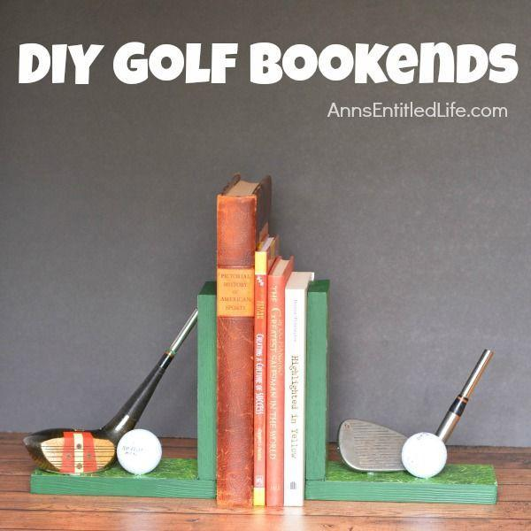 """<p>These homemade golf bookends are an excellent daddy-child project to do together. <strong><br></strong></p><p><strong><em>Get the tutorial at <a href=""""https://www.annsentitledlife.com/crafts/diy-golf-bookends/"""" rel=""""nofollow noopener"""" target=""""_blank"""" data-ylk=""""slk:Ann's Entitled Life"""" class=""""link rapid-noclick-resp"""">Ann's Entitled Life</a>.</em></strong></p>"""