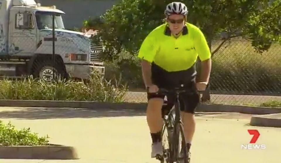 Geoffrey James is back on his bike and regaining his confidence. Source: 7 News