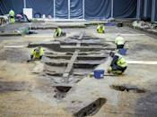Archaeologists hunt for clues in an excavated Viking burial ship in Norway