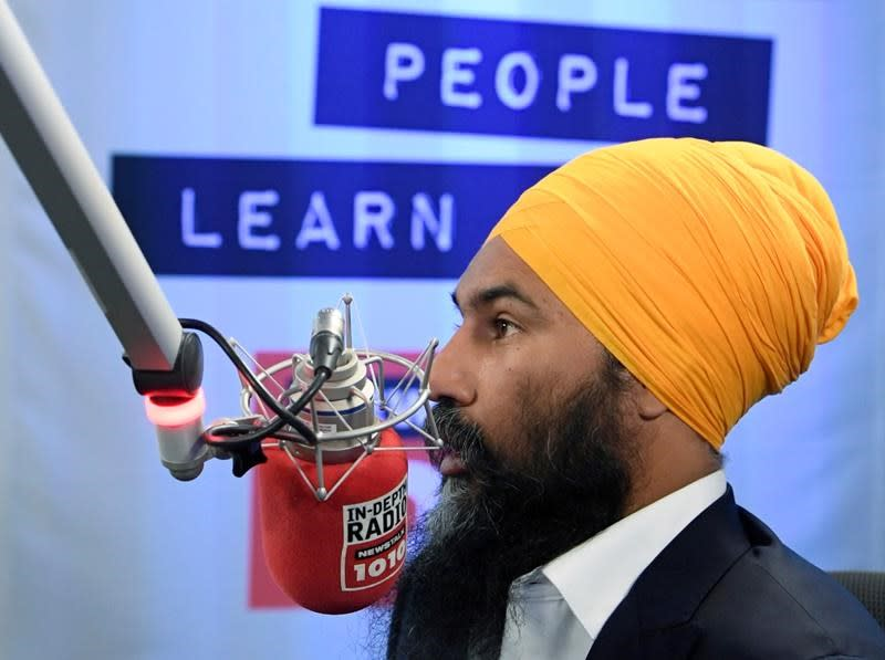Singh tries to keep NDP on message amid anger over Trudeau's 'blackface' images