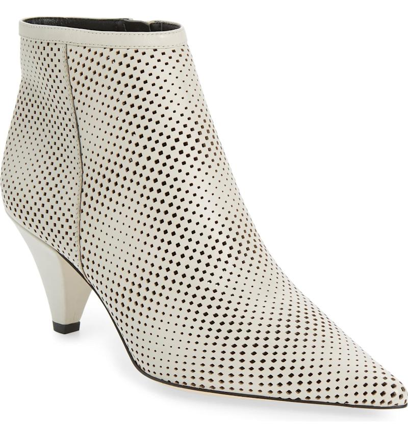 SARTO BY FRANCO SARTO Bobbi Perforated Pointy Toe Bootie