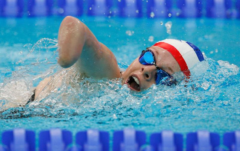 XXXX competes in the XXXXX Swimming event at the National Aquatics Centre during day six of the 2008 Paralympic Games on September 12, 2008 in Beijing, China.