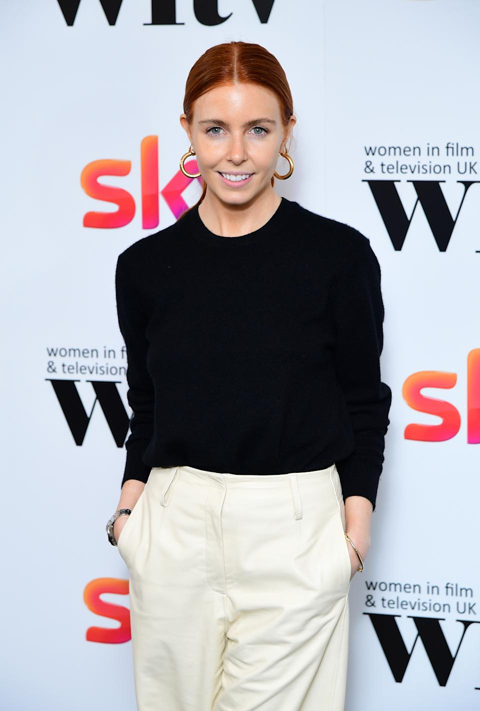 Stacey Dooley in the press room at the Women in Film and TV Awards 2019 at the Hilton, Park Lane, London.