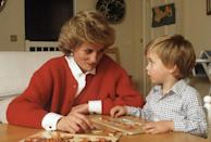 "<p>When she married Prince Charles, Diana gave up working as a nursery school teacher in favor of her royal obligations. But while she maintained her official duties, Diana worked to put <a href=""http://www.goodhousekeeping.com/life/entertainment/g2565/vintage-photos-prince-william-prince-harry/"" rel=""nofollow noopener"" target=""_blank"" data-ylk=""slk:parenting"" class=""link rapid-noclick-resp"">parenting</a> before her other commitments. ""Inevitably, she left her children with nannies — just as she herself and so many other well-to-do British children have been left — but she tried to arrange her schedule to match the boys',"" Katrine Ames <a href=""http://www.newsweek.com/princess-diana-diana-william-harry-prince-william-prince-harry-royal-family-383384"" rel=""nofollow noopener"" target=""_blank"" data-ylk=""slk:wrote"" class=""link rapid-noclick-resp"">wrote</a> in <em>Newsweek</em> in 1997. ""In her official calendar, the princess had all the everyday details of her son's utterly uneveryday lives marked in green ink.""</p>"