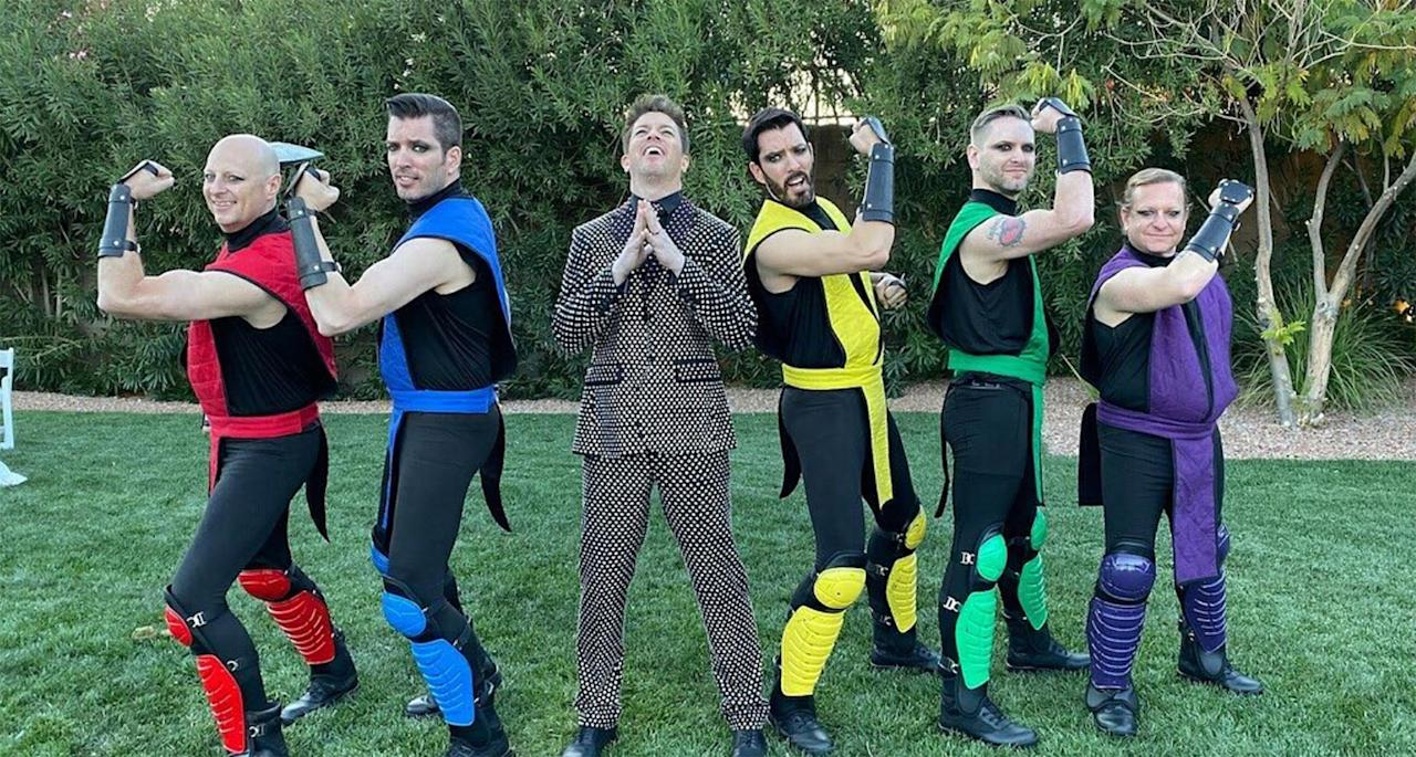 "The groomsmen, including J.D.'s younger twin brothers Drew and Jonathan, 41, wore costumes inspired by the video game Mortal Kombat for the ceremony. The group carried the groom into the ceremony on a velvet, tufted chaise lounge before depositing him at the end of the aisle.   They also seemed to stay in character, and can be seen shifting their weight and punching their fists against their palms as the game's fighters do while they await their next move, in a <a href=""https://www.instagram.com/p/B4U5DUqg16g/"">video posted to Instagram</a>."