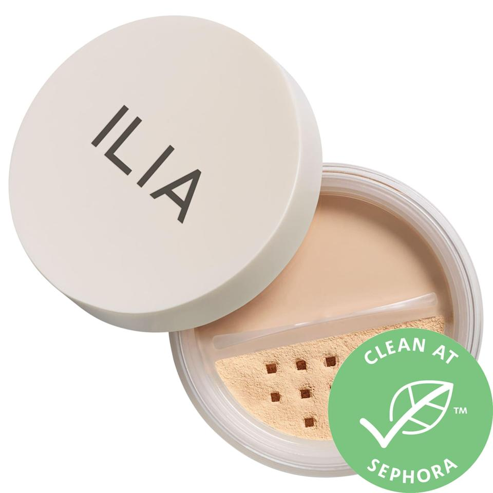 "<p><strong>ILIA</strong></p><p>sephora.com</p><p><strong>$34.00</strong></p><p><a href=""https://go.redirectingat.com?id=74968X1596630&url=https%3A%2F%2Fwww.sephora.com%2Fproduct%2Fradiant-translucent-powder-spf-20-P432061&sref=https%3A%2F%2Fwww.goodhousekeeping.com%2Fbeauty-products%2Fg35745893%2Fbest-face-powders%2F"" rel=""nofollow noopener"" target=""_blank"" data-ylk=""slk:Shop Now"" class=""link rapid-noclick-resp"">Shop Now</a></p><p>Not only does this powder have some SPF to help protect you from the sun's harmful rays, it also contains aloe to help soften skin. ""I wanted a setting powder that didn't make my skin look dry and flat, this completely did the trick,"" one reviewer says. ""<strong>It's very finely milled, creating a soft blurring effect without the matte finish. It doesn't dry me out or settle in lines.</strong>""</p>"