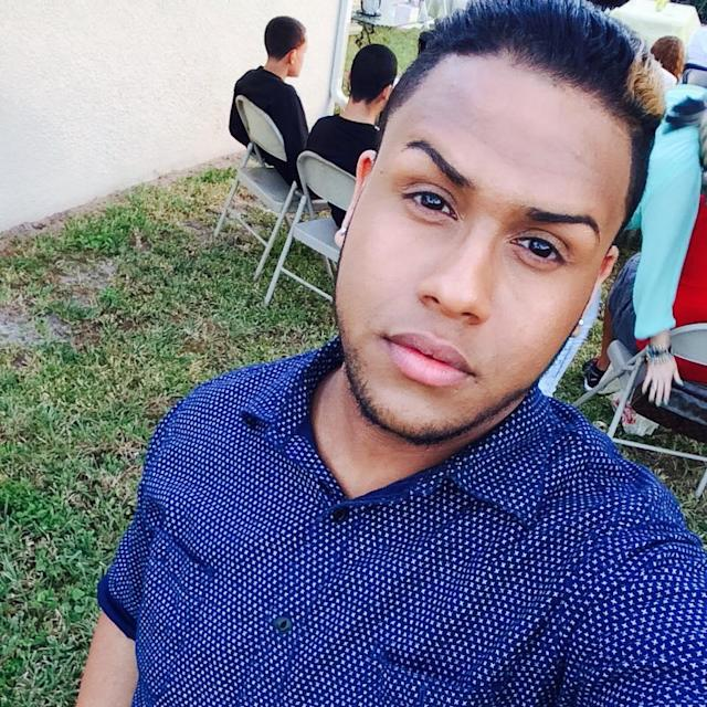 <p>A photo posted Nov. 30, 2014, from the Facebook account of Peter O. Gonzalez-Cruz, who police identified as one of the victims of the shooting massacre that happened at the Pulse nightclub of Orlando, Florida, on June 12, 2016. (Peter Ommy via Facebook) </p>