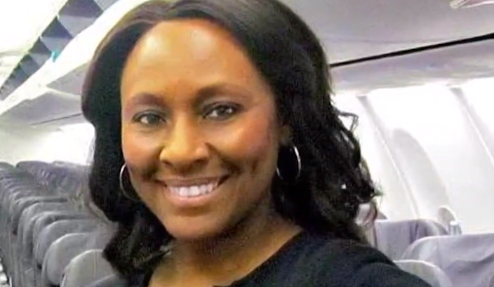 Sheila Frederick, 49, was working on an Alaska Airlines flight from Seattle to San Francisco when she noticed a young 'dishevelled' looking girl travelling with a well-dressed man and immediately knew something was wrong: screen grab