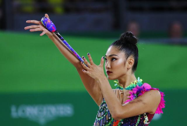 Rhythmic Gymnastics - Gold Coast 2018 Commonwealth Games - Individual Clubs Final - Coomera Indoor Sports Centre - Gold Coast, Australia - April 13, 2018. Enid Sung of Australia. REUTERS/David Gray