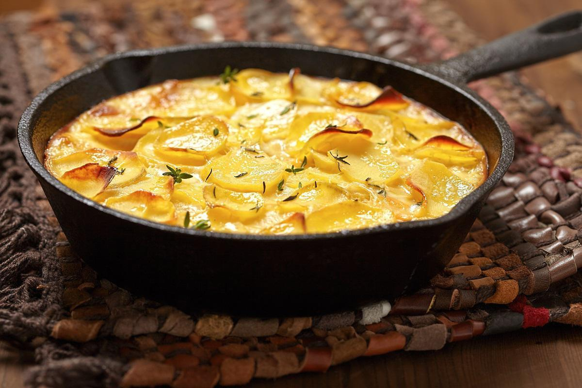 """<p>There are many <a href=""""https://www.thedailymeal.com/travel/cheese-around-the-world-everyone-should-try?referrer=yahoo&category=beauty_food&include_utm=1&utm_medium=referral&utm_source=yahoo&utm_campaign=feed"""">different types of cheeses</a> that can be used to make potato gratin, but this recipe uses fontina cheese and adds onions and sage to give it even more flavor.</p> <p><strong><a href=""""https://www.thedailymeal.com/recipes/potato-gratin-onions-and-sage-recipe?referrer=yahoo&category=beauty_food&include_utm=1&utm_medium=referral&utm_source=yahoo&utm_campaign=feed"""">For the Potato Gratin with Onions and Sage recipe, click here.</a></strong></p>"""
