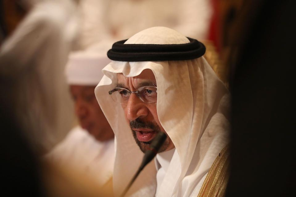 Saudi energy minister Khalid al-Falih is looking to cut oil production to shore up sagging prices. Photo: Karim Sahib/Getty Images