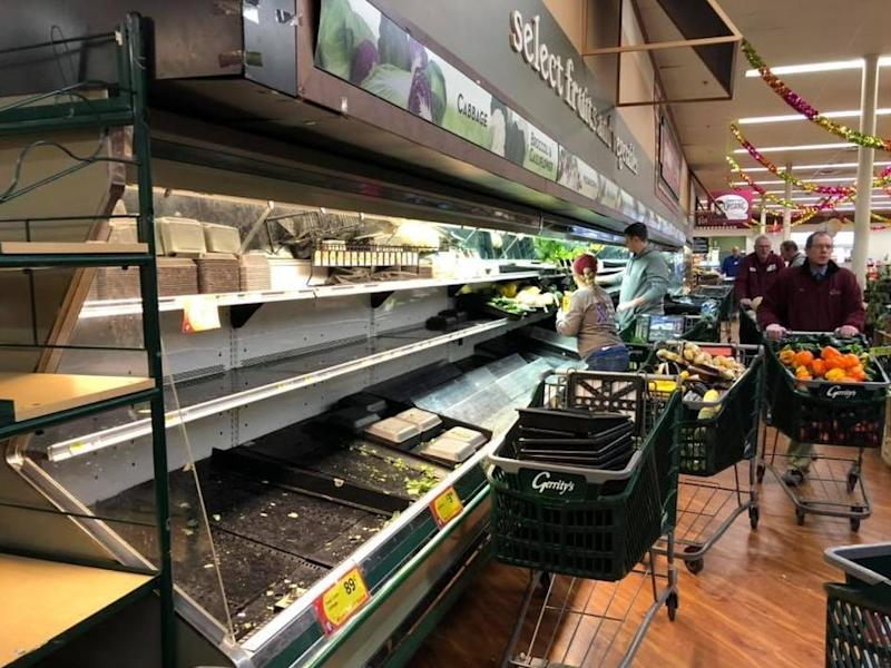 The owner of Gerrity's Supermarket reported it had been forced to dispose of £30,000 of groceries, meat and bakery products: Gerrity's Supermarket/Facebook