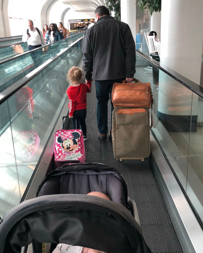 The man also had the same connecting flight as the woman and her family, so he walked them to their gate. Photo: Facebook/Jessica Rudeen