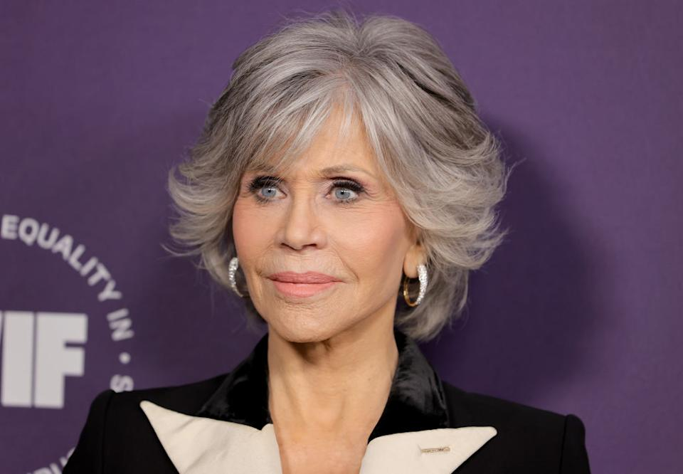 Jane Fonda has been praised by fans for her 'ageless beauty', pictured at the Women in Film's Annual Award Ceremony in October 2021. (Getty Images)