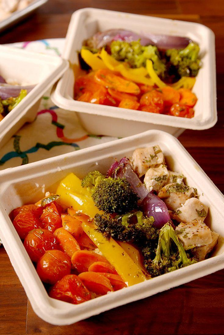 """<p>Finally, a strategy that makes meal prep not suck.</p><p>Get the recipe from <a href=""""https://www.delish.com/cooking/recipe-ideas/recipes/a51204/rainbow-chicken-veggies-recipe/"""" rel=""""nofollow noopener"""" target=""""_blank"""" data-ylk=""""slk:Delish"""" class=""""link rapid-noclick-resp"""">Delish</a>.</p>"""