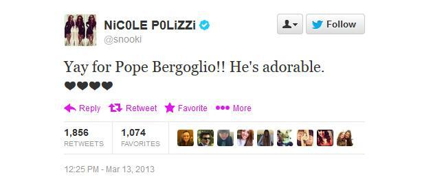 Yay for Pope Bergoglio!! He's adorable. ❤❤❤❤ - @snooki