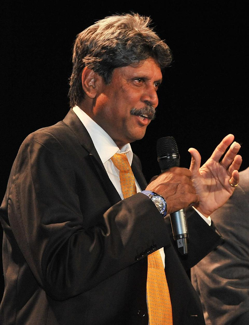 Indian cricket legend Kapil Dev says it is difficult to predict a World Cup winner (AFP Photo/Paul Crock)