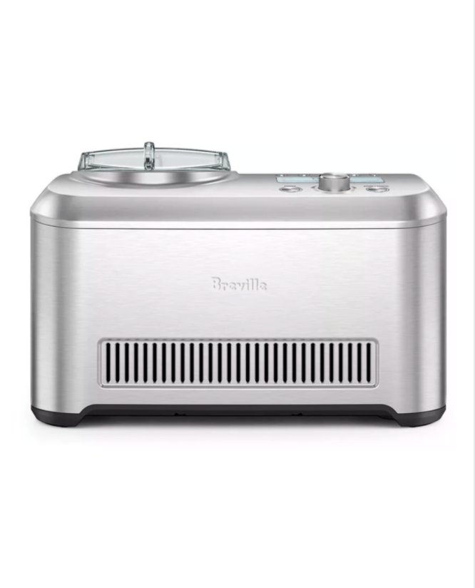 """<p><strong>Breville</strong></p><p>amazon.com</p><p><a href=""""https://www.amazon.com/dp/B009OZ62IG?tag=syn-yahoo-20&ascsubtag=%5Bartid%7C1782.g.31250312%5Bsrc%7Cyahoo-us"""" rel=""""nofollow noopener"""" target=""""_blank"""" data-ylk=""""slk:BUY NOW"""" class=""""link rapid-noclick-resp"""">BUY NOW</a></p><p>Sure this is a splurge, but serious ice cream lovers, listen up: This maker has twelve different settings for texture so you can decide if you want to make sorbet, gelato, frozen yogurt, or ice cream–and all at your desired consistency. The Breville machine also keeps the ice cream cold for up to three hours.</p>"""