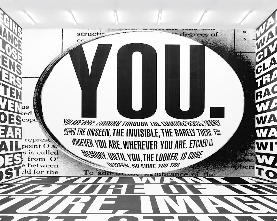 Barbara Kruger, Untitled (Forever), 2017. Installation view, Sprüth Magers, Berlin, 2017–18. Amorepacific Museum of Art (APMA), Seoul.