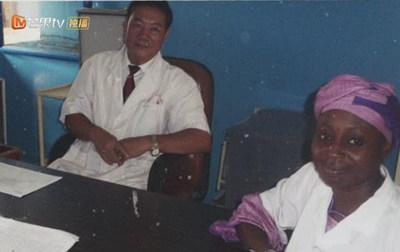 Work photo when Dr. Qiao Shihui aided Africa