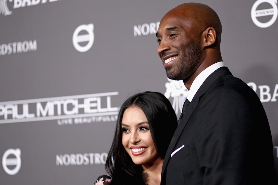 CULVER CITY, CA - NOVEMBER 10:  Vanessa Laine Bryant (L) and Kobe Bryant attend the 2018 Baby2Baby Gala Presented by Paul Mitchell at 3LABS on November 10, 2018 in Culver City, California.  (Photo by Tommaso Boddi/Getty Images for Baby2Baby)