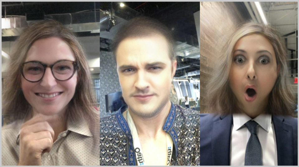 Yahoo Finance's Myles Udland, Jennifer Rogers and Brian Sozzi try the gender swapping filter on Snapchat.
