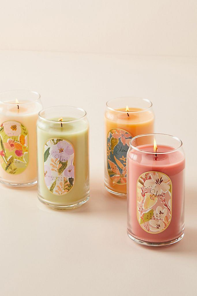 Spring's Eden Wrapped Glass Candle