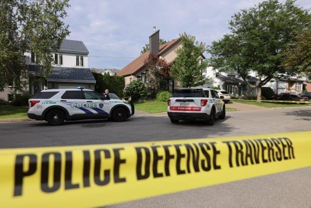 Police in Repentigny responded to a 911 call Sunday morning for a disoriented man reportedly armed with a knife. (Mathieu Wagner/Radio-Canada - image credit)