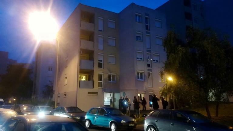 Dozens of masked police swarmed the public housing estate in the Oise region north of Paris in the early hours