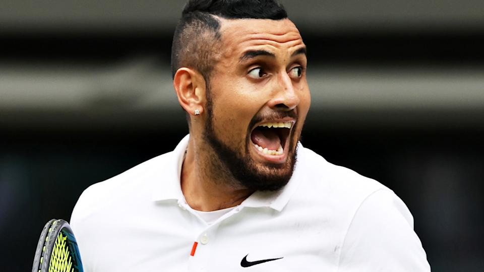 Nick Kyrgios Nick Kyrgios could't help but mess with a reporter who asked about his Wimbledon footwork.