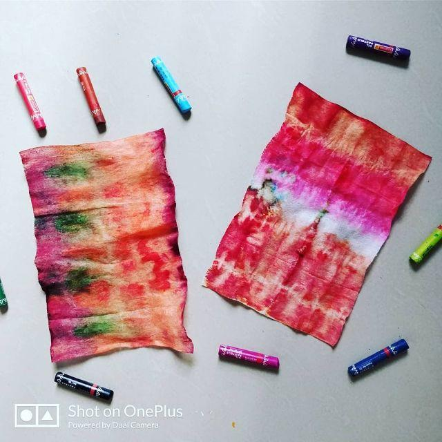 Fun DIY Handkerchief Using Tie And Dye Technique