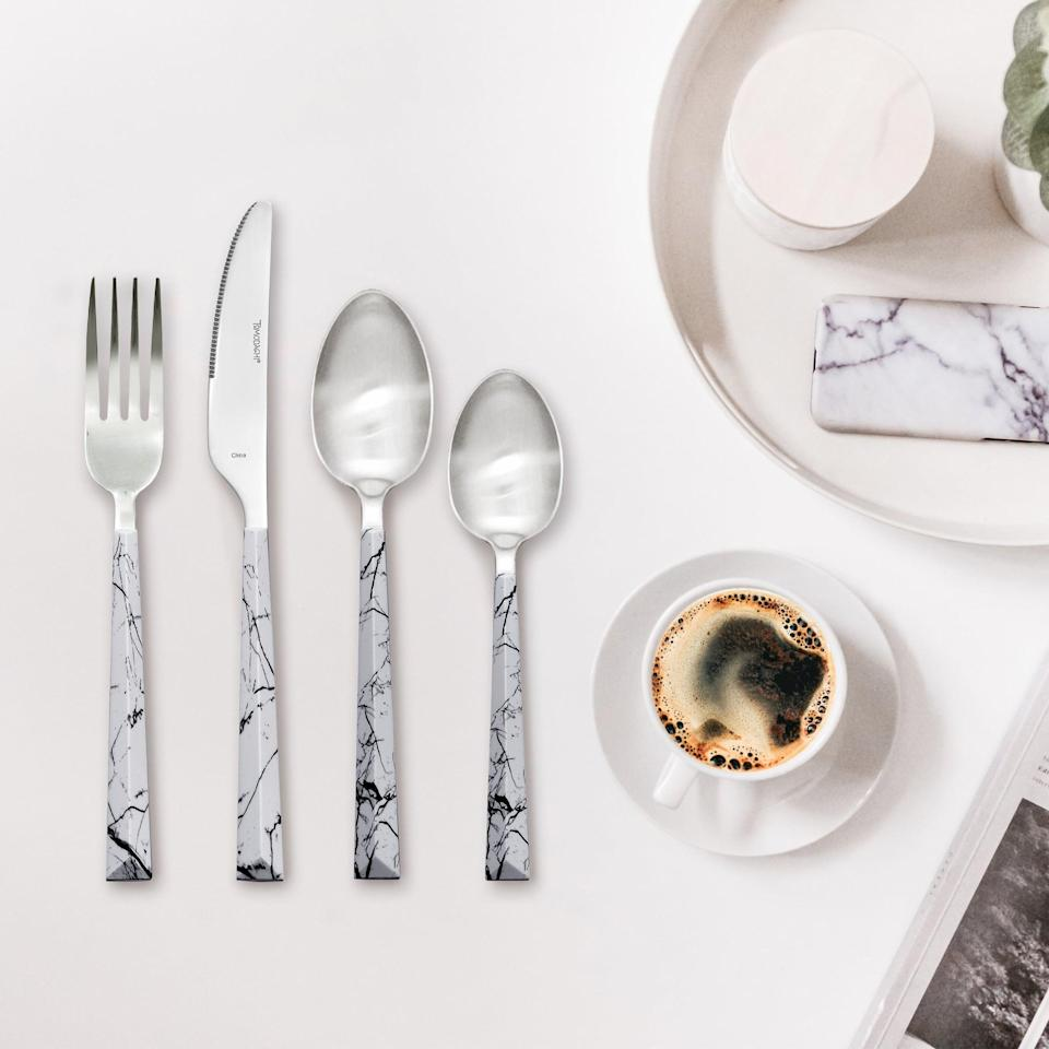 <p>This <span>Ebern Designs Dali Marble 20 Piece Flatware Set</span> ($35, originally $45) will make a great addition to your party silverware.</p>