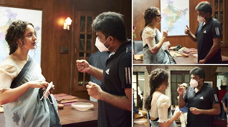 Thalaivi: Kangana Ranaut Shares Pics From The Set, Says It Is It 'Soothing and Comforting' (View Pics)
