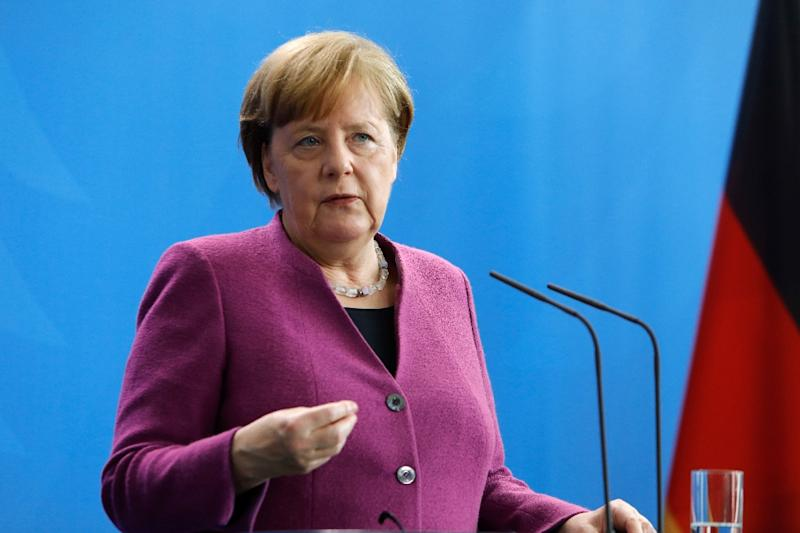 German Chancellor Angela Merkelhad ruled out Germany joining any military action against Syria but expressed support for the US, British and French intervention