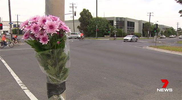 Flowers have been left at the Yarraville scene. Picture: 7 News
