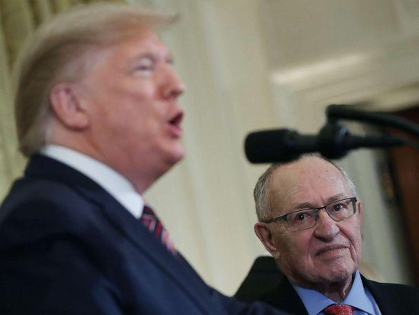 PHOTO: Professor Alan Dershowitz listens to President Donald Trump speak during a Hanukkah Reception in the East Room of the White House on Dec. 11, 2019, in Washington, D.C. (Mark Wilson/Getty Images)