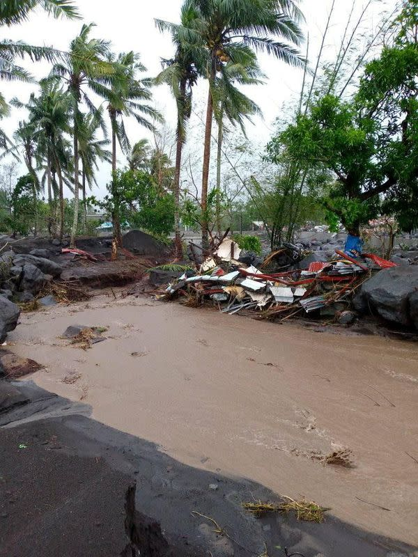 Aftermath of Typhoon Goni in Albay Province