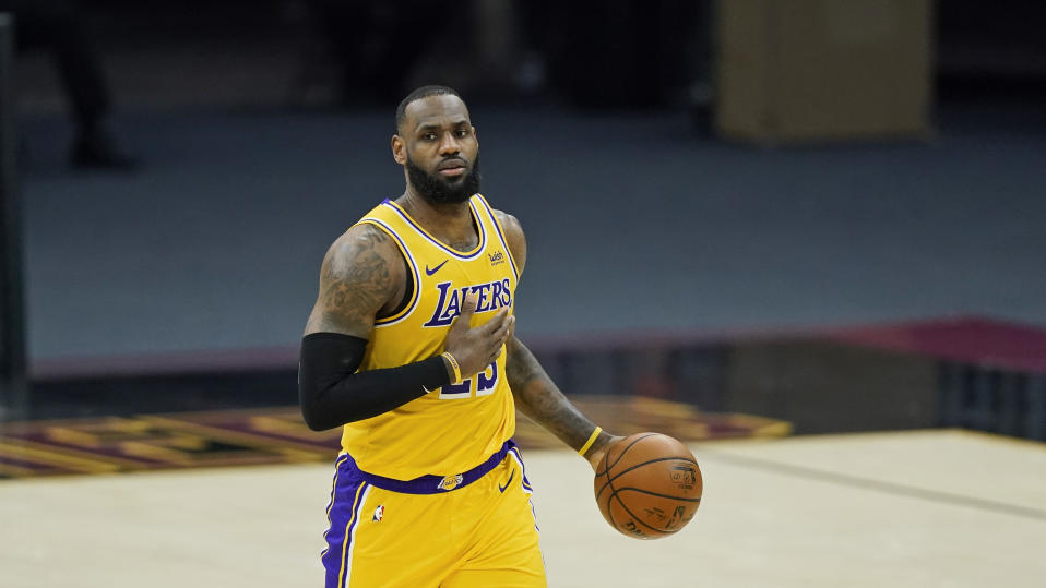 Los Angeles Lakers' LeBron James