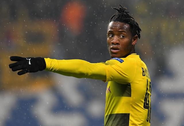 "Michy Batshuayi accused ""racist"" Atalanta fans of making monkey noises in the stands during Thursday's Europa League game. (Getty)"