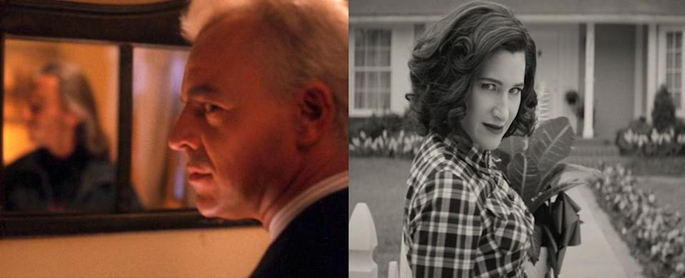 In both Twin Peaks and WandaVision, the evil culprits were disguised as classic TV archetypes.