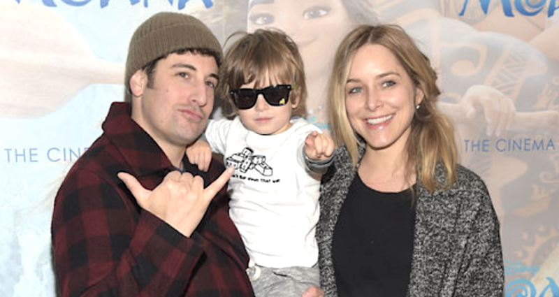 Jenny Mollen, pictured with Jason Biggs and Sid in 2016, said their son is now eating ice cream cones and recovering at home. (J. Kempin via Getty Images)