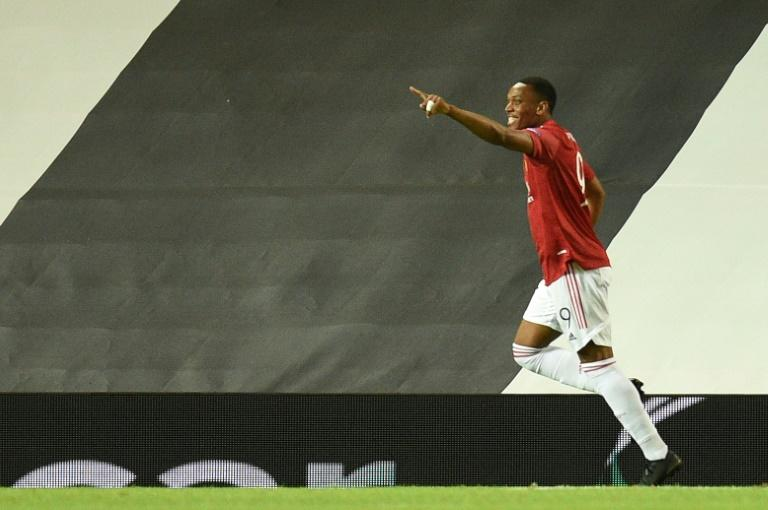 Anthony Martial came off the bench to score in the victory over LASK