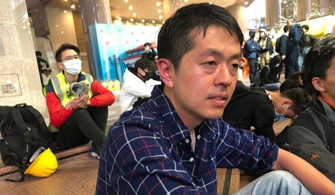 Opposition lawmaker Ted Hui, seen here after allegedly being pepper-sprayed by a Hong Kong police officer. Photo: Handout