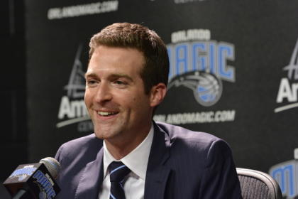 Magic GM Rob Hennigan wants to make the playoffs and target big free agents. (Fernando Medina/NBAE/Getty)