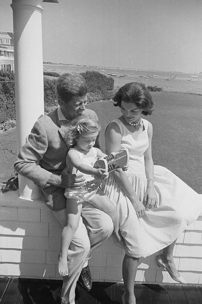 <p>During one of their last weekends together before hitting the campaign trail, Senator Kennedy and his wife retreated to Cape Cod with Caroline.</p>