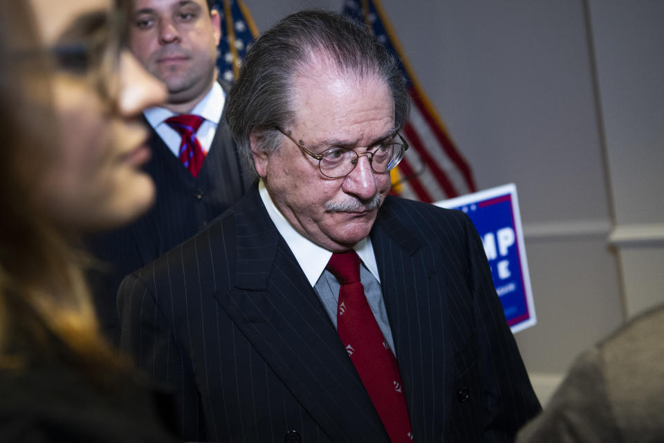 Joe diGenova, attorney for President Donald Trump, has been slammed for his violent comments. Source: Getty