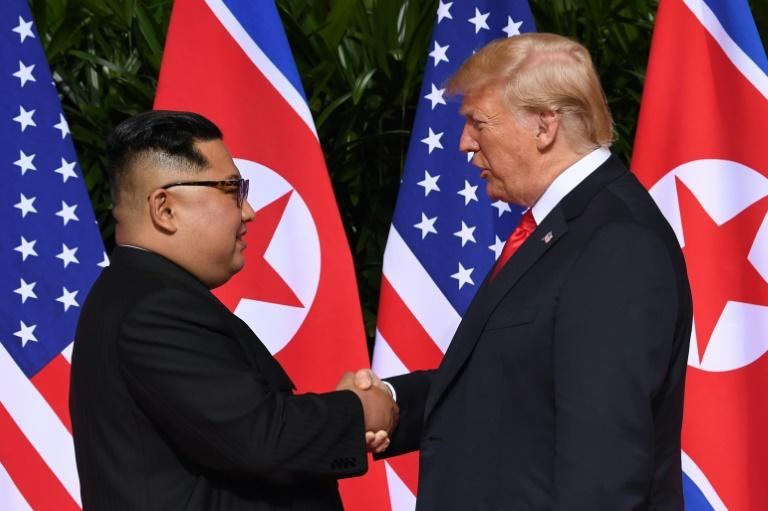 The historic handshake between North Korean leader Kim Jong Un and US President Donald Trump lasted some 13 seconds