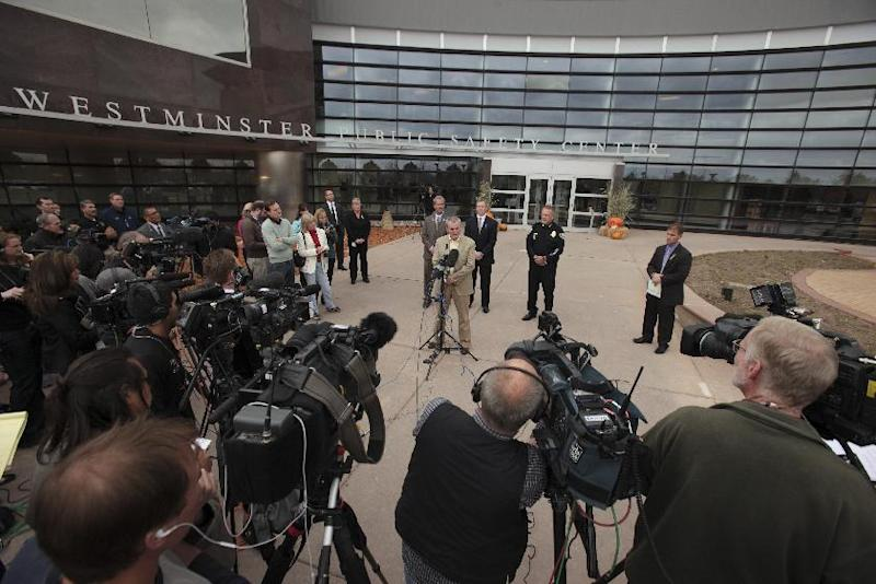 Jefferson County District Attorney Scott Storey speaks during the announcement the arrest of Austin Reed Sigg,17, for the murder of Jessica Ridgeway at the Westminster Police Station Wednesday, Oct. 24, 2012 in Westminster, Colo. (AP Photo/Barry Gutierrez)